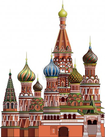 St. Basil's Cathedral near the Kremlin in Moscow...