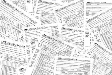 Photo pour Formulaire d'impôt sur le revenu contexte . - image libre de droit