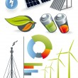 Illustration of renewable energy for the static or...