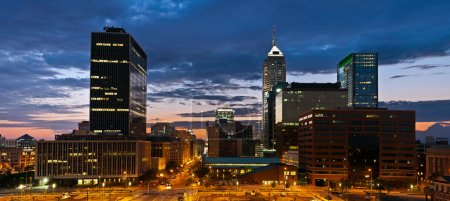 Photo for Image of Indianapolis skyline at sunset. - Royalty Free Image