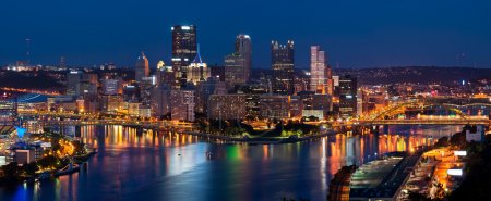 Pittsburgh skyline panorama.