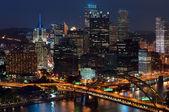 Pittsburgh skyline.
