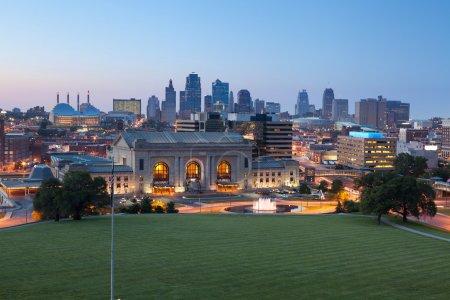 Photo for Image of the Kansas City skyline at twilight. - Royalty Free Image