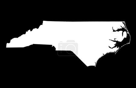 Photo pour État de Caroline du Nord carte, sur fond noir - image libre de droit