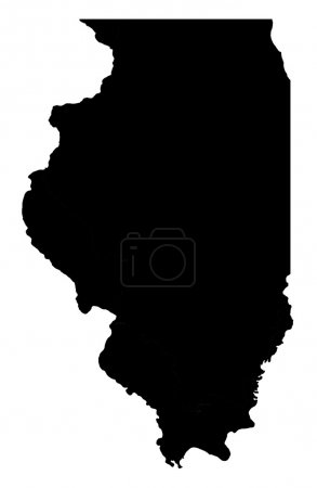 State of Illinois map