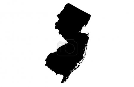 State of New Jersey map