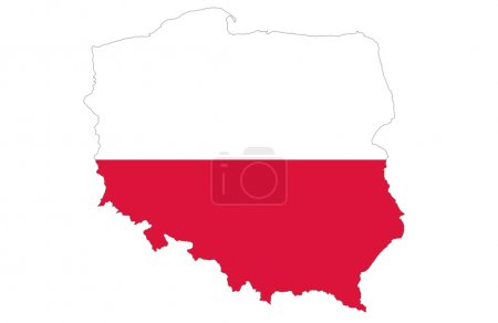 Photo pour Republic of Poland map, isolated on white background - image libre de droit