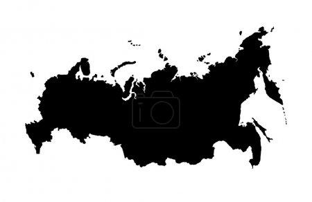 Photo pour Carte de fédération de Russie, d'isolement sur le fond blanc - image libre de droit