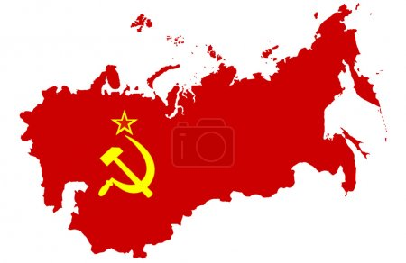 Soviet Union map, isolated on white background...