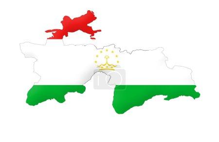 République du Tadjikistan carte