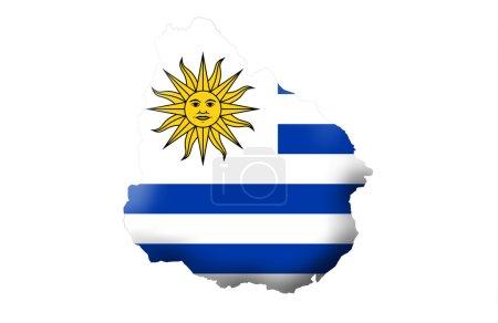Photo pour République orientale de l'Uruguay, isolé sur fond blanc - image libre de droit