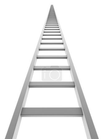 White ladder going up