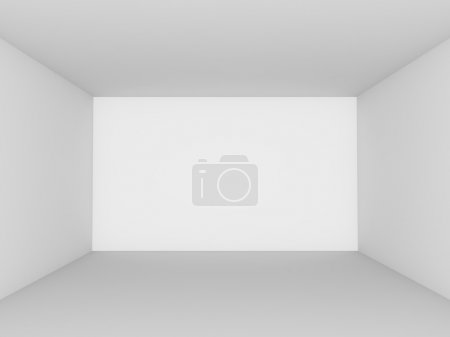 Photo for Empty white room perspective view. - Royalty Free Image