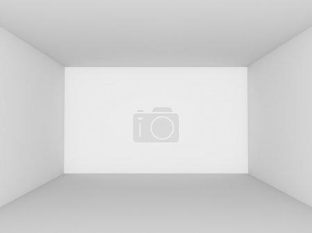 Photo pour Chambre blanche vide vue perspective . - image libre de droit