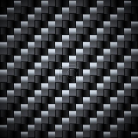 Seamless carbon vector texture.