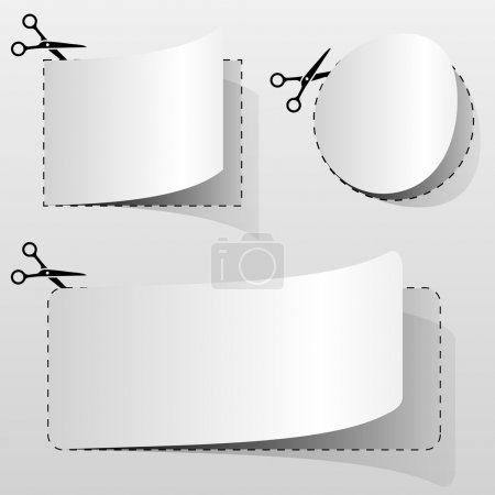 Blank white advertising coupons