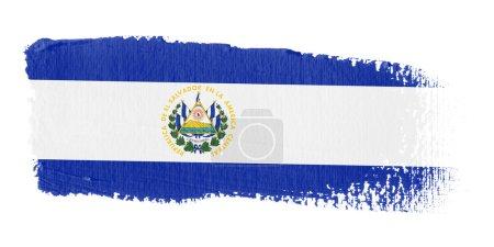 Brushstroke Flag El Salvador