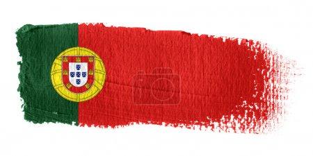Brushstroke Flag Portugal