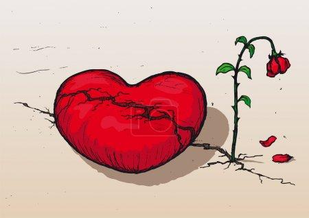 Illustration pour Cœur brisé - image libre de droit