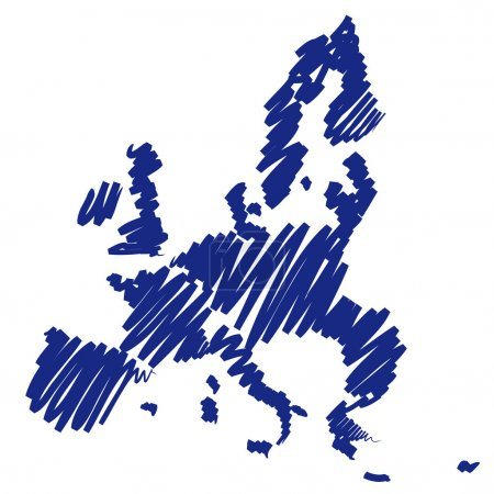 Illustration for Map sketch Europe - Royalty Free Image