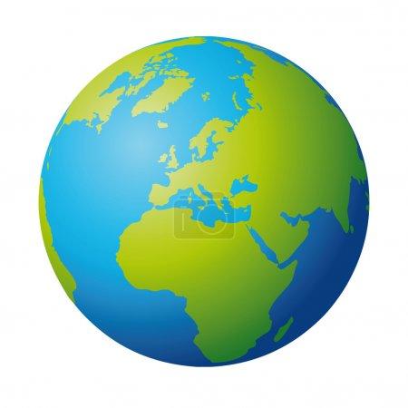 Illustration pour Globe terrestre - image libre de droit