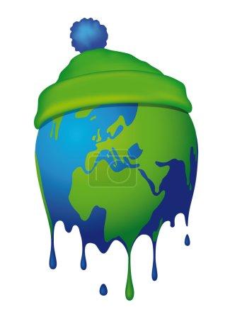 Illustration for That illustration of the globe melts - Royalty Free Image