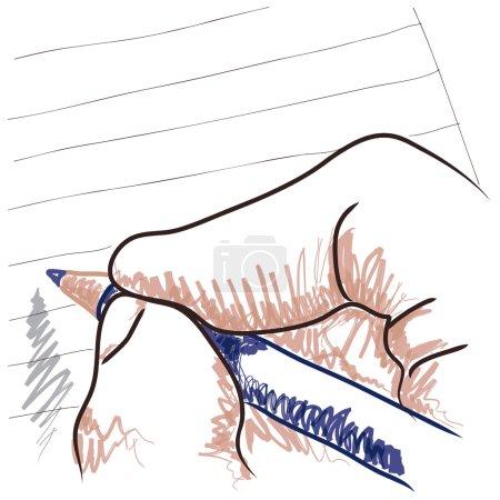 Illustration pour Dessin manuel - image libre de droit