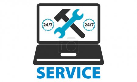 Illustration for Computer repair service - Royalty Free Image