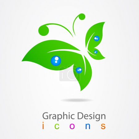 Graphic design logo butterfly.