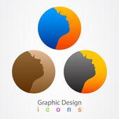 Graphics design icon face