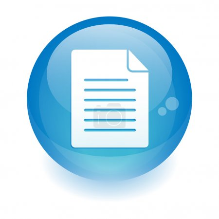 Illustration for Sphere document icon. - Royalty Free Image