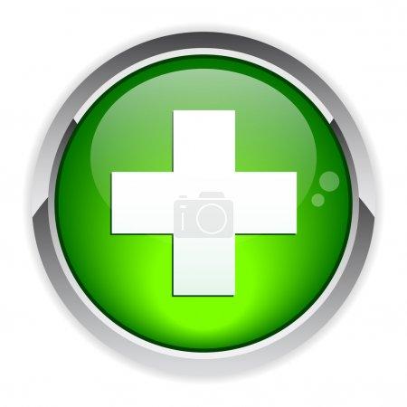 Illustration pour Icône santé internet Bouton - image libre de droit