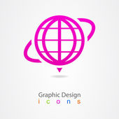 Graphics design network icon logo