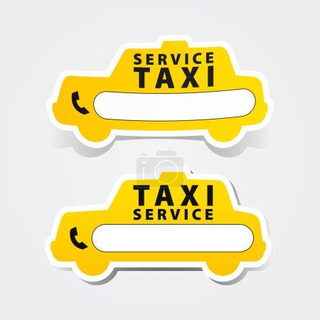 Illustration pour Autocollant service de taxi - image libre de droit
