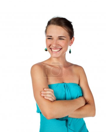Teenage female smiling