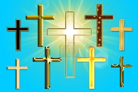Photo pour Illustration d'une croix - image libre de droit