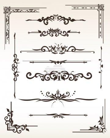Vintage elements design