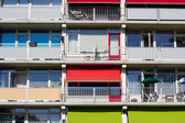 Several balconies of a building