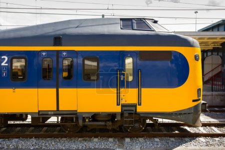 Dutch electric locomotive waiting at the station...
