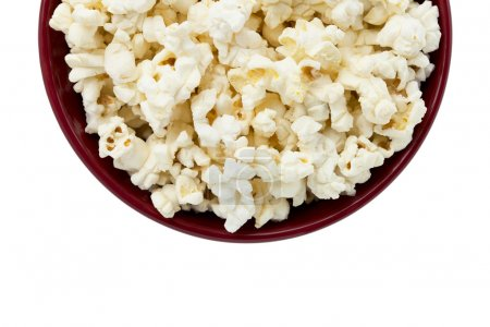 Photo for Cropped image of a popcorn inside the red bowl - Royalty Free Image