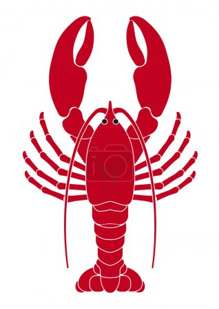 Lobster logo vector illustration...