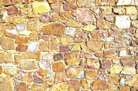 Photo pour Mur de pierres naturelles - image libre de droit