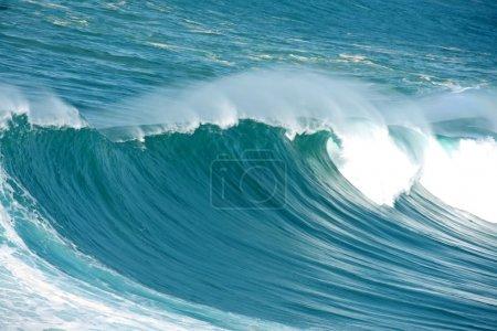 Incredible huge wave at the atlantic ocean