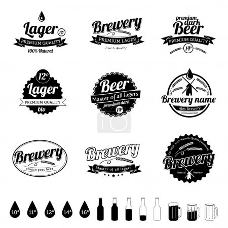 Illustration for Collection of premium quality Beer - Royalty Free Image
