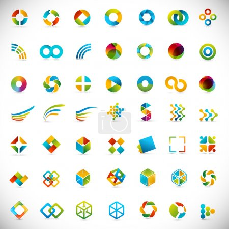 Illustration for 49 design elements - creative symbols collection - Royalty Free Image