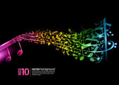 Vector saxophone - music background