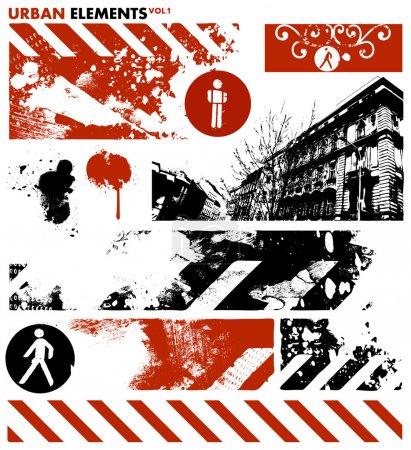 Illustration for Urban design elements - Royalty Free Image