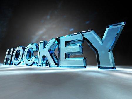 """Photo pour Le mot """"Hockey"""" sur un fond coloré - image libre de droit"""