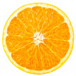 Orange slice isolated on white background...