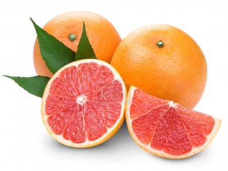 Grapefruit with slice detail
